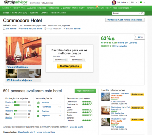 reservar hotel pela internet trip advisor