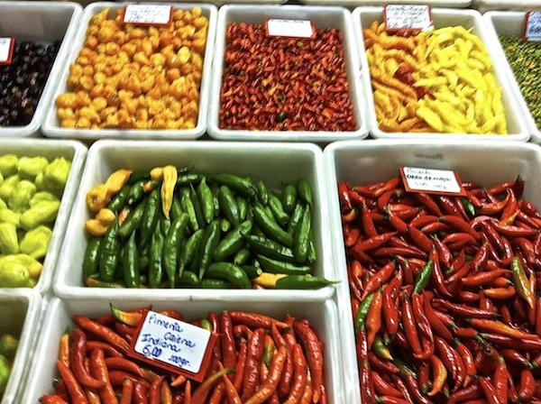 Pimentas no Mercado Central de BH