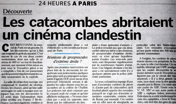 jornal fala sobre cinema nas catacumbas