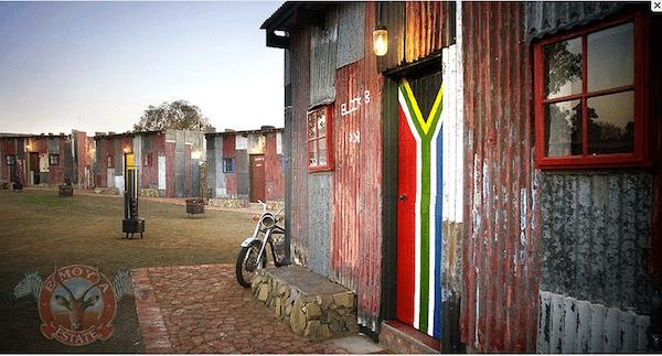 Favela de mentira da África do Sul