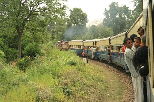 Viagem de trem Índia