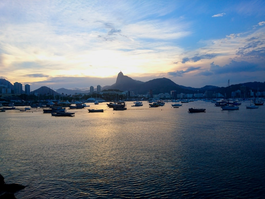Vista da Mureta da Urca, no Rio de Janeiro