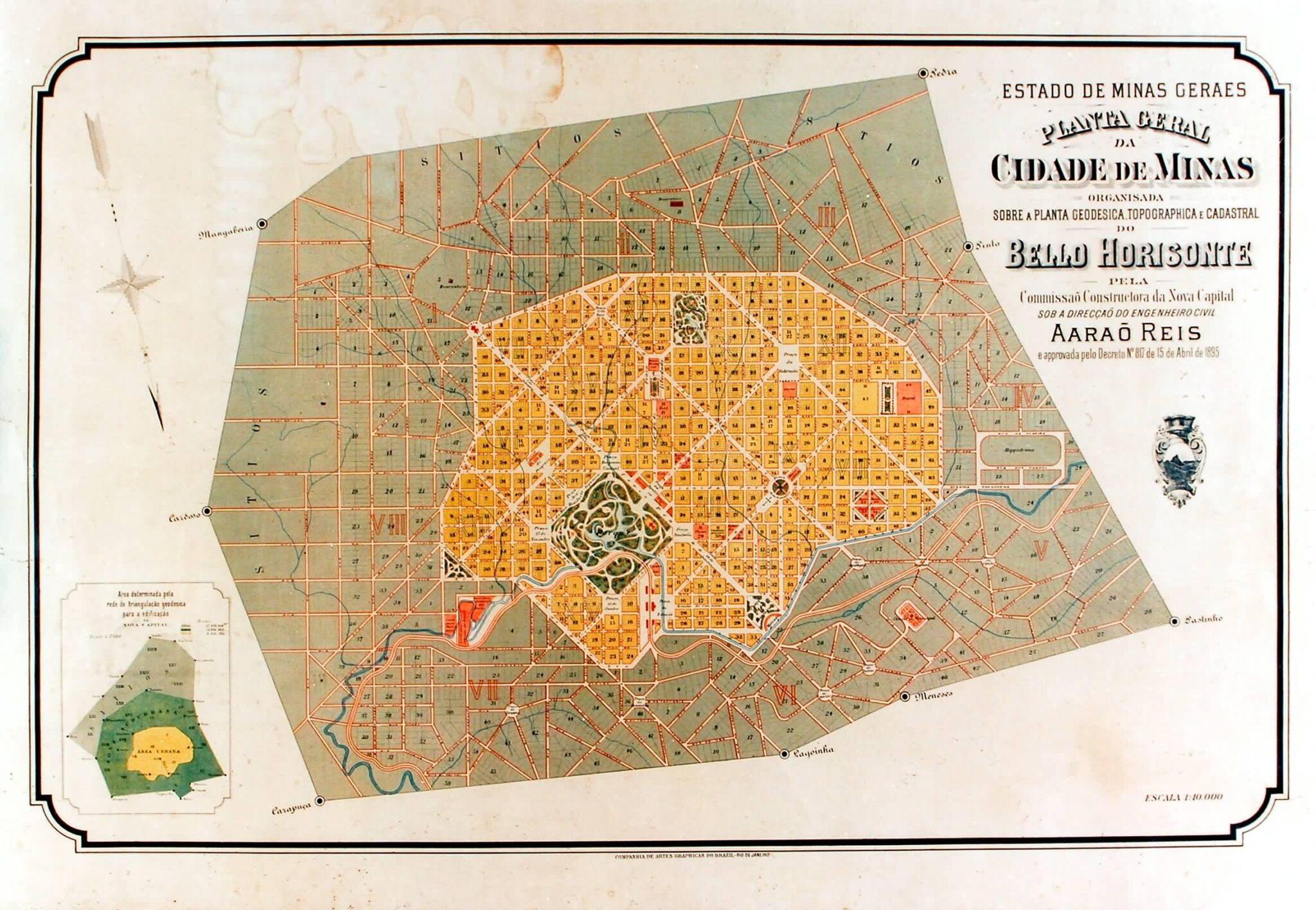 Nascida no século 19, Belo Horizonte foi uma das primeiras cidades