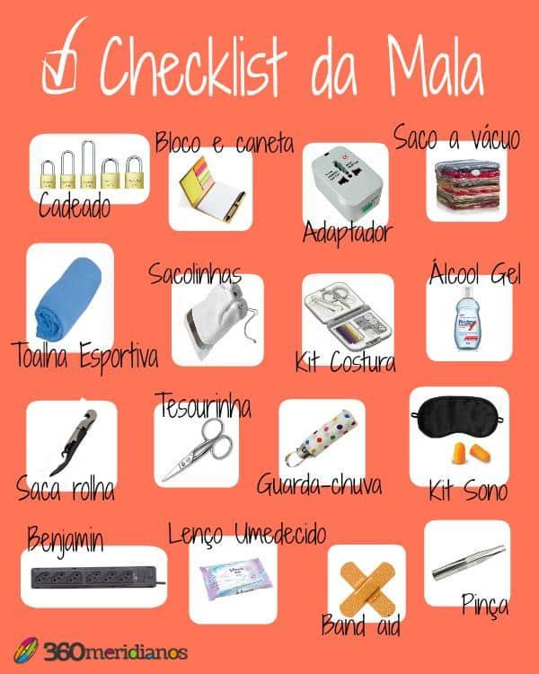 checklist para mala