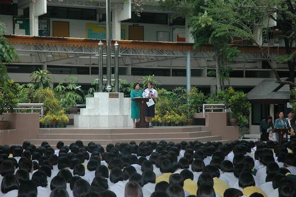 intercambio na tailandia discurso de despedida, horário da hora cívica