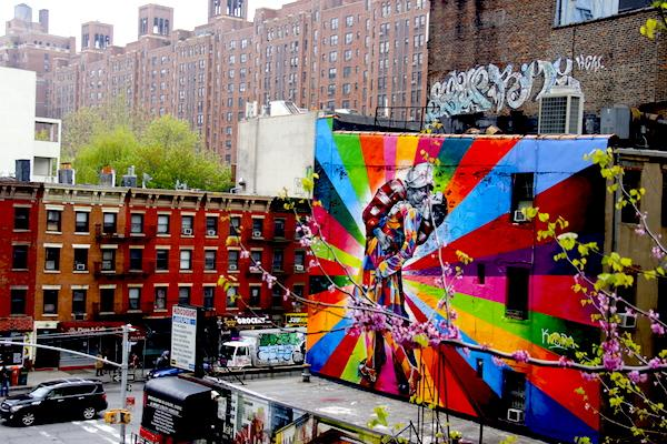 paineis arte High Line