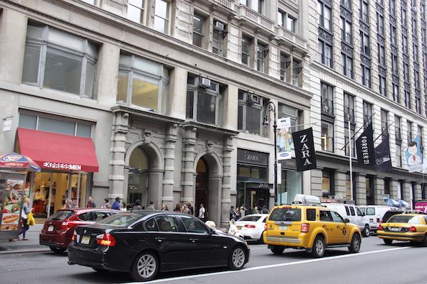 Carros em Nova York nos Estados Unidos