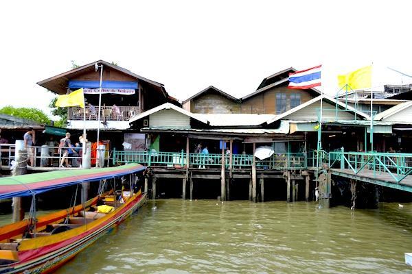 Pier de Barcos em Bangkok Tailandia