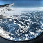Alpes - vista do avião