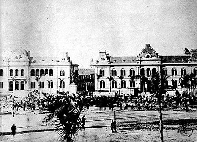 Foto antiga da Casa Rosada