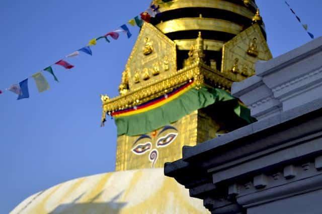 Estupa Budista em Katmandu