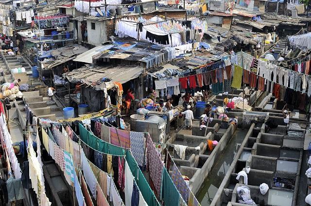 lavanderia a ceu aberto rm Mumbai, Índia