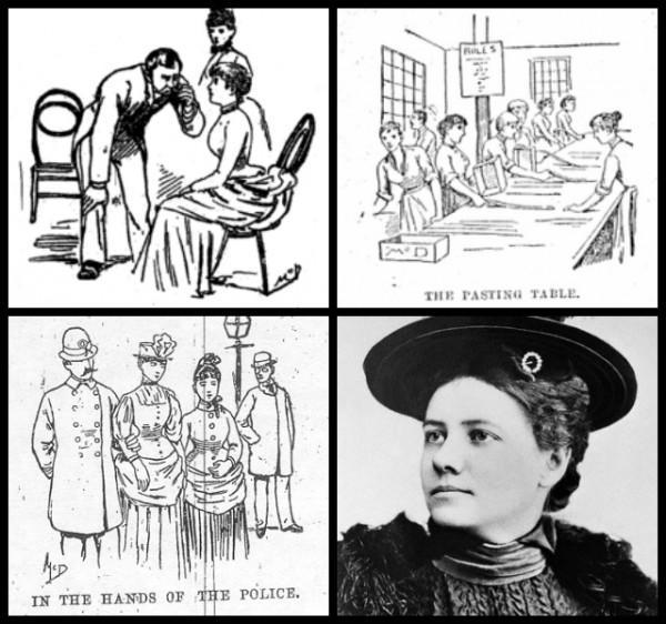 Nellie Bly ilustrações artigos