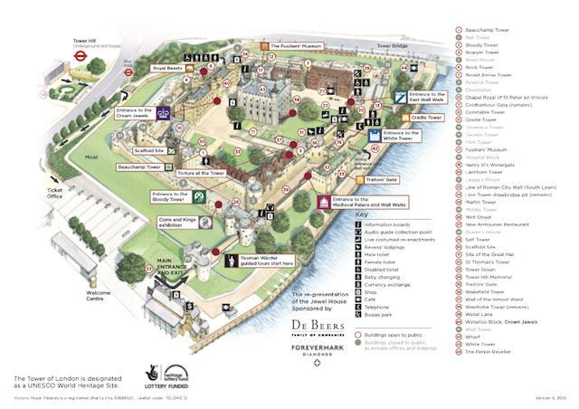 Torre de Londres Mapa