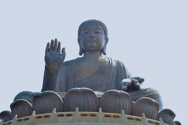 Buda gigante de Hong Kong detalhe