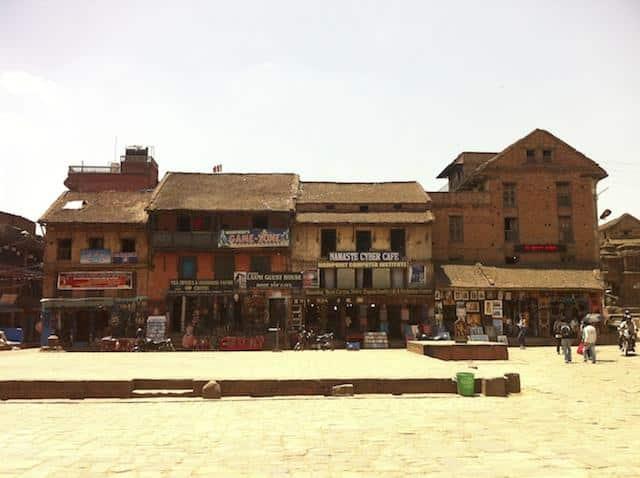 Comércio local em Baktapur - Nepal