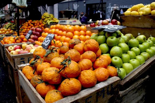 Mercado local em Montevideu, Uruguai