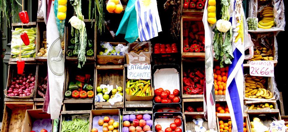 Turismo sustentável - mercado em Montevidéu