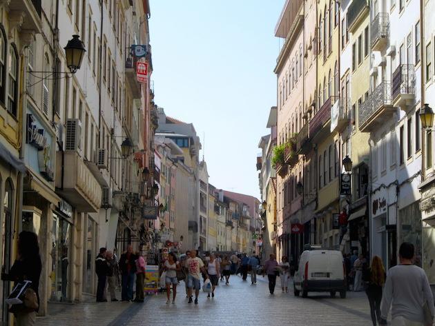 A baixa centro de Coimbra