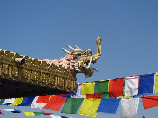 Boudhanath detalhe dragao
