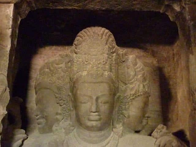 Busto Shiva Ilha da Elefanta