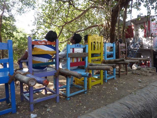 Cadeiras carregadores Ilha da Elefanta
