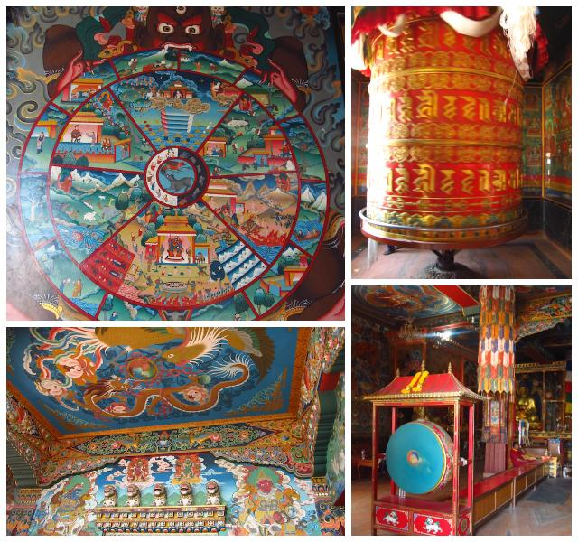 Detalhes Monastério Boudhanath