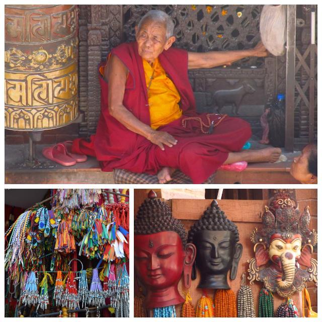 Detalhes em Boudhanath Nepal