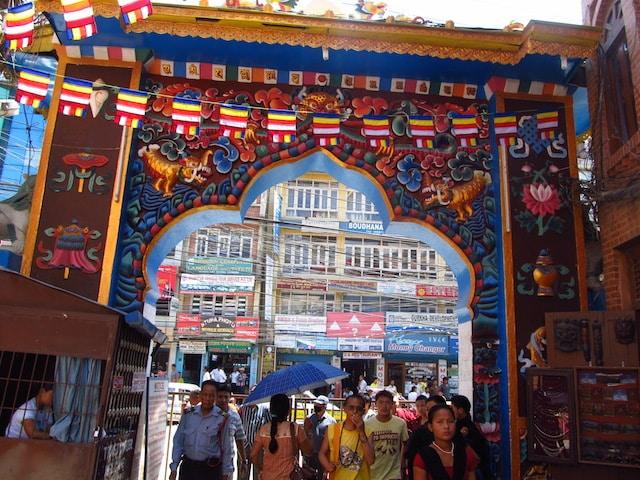 Entrada Estupa de Boudhanath
