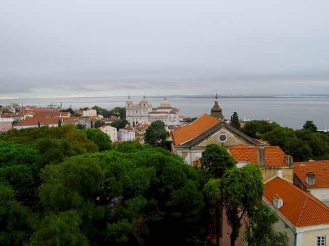 Vista Miradouro Castelo de São Jorge Lisboa