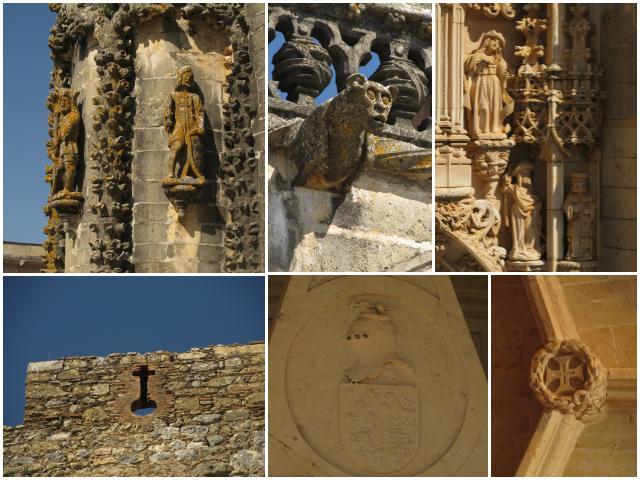 Detalhes Castelo de Tomar Portugal