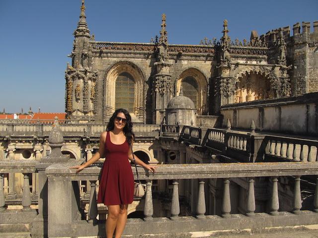 Luiza no Castelo de Tomar Portugal