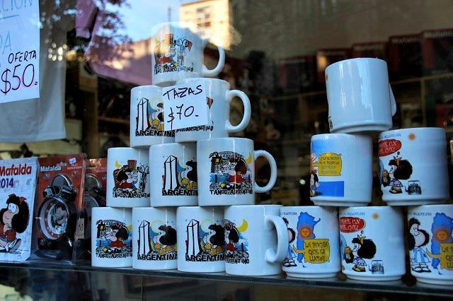 venda de copos da Mafalda em buenos aires