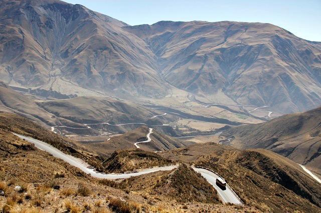 Cuesta del Obispo, estrada próxima a Salta
