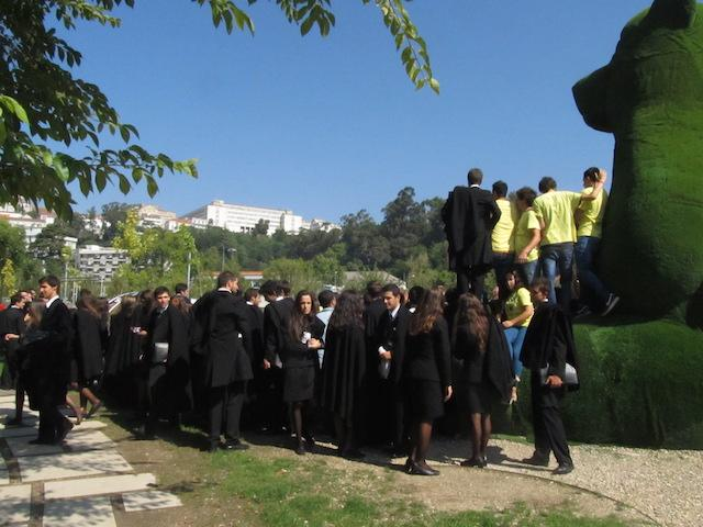 Estudantes em coimbra trote