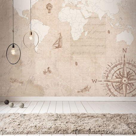 papel de parede mapa mundi vintage