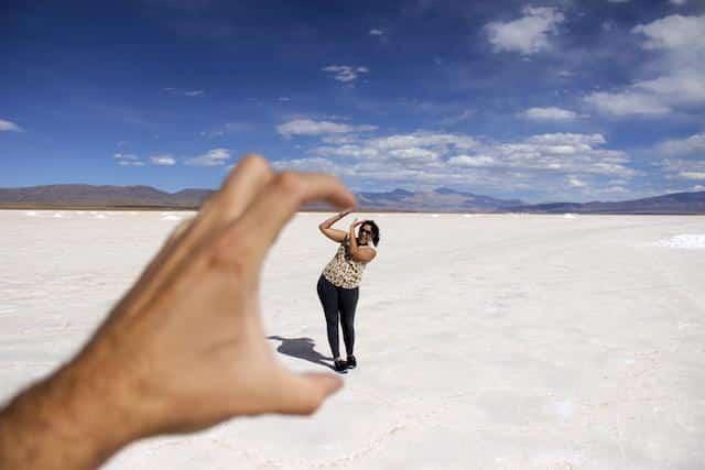 Foto perspectiva - Salinas Grandes