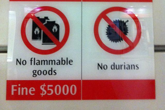 Proibido durians - Cingapura