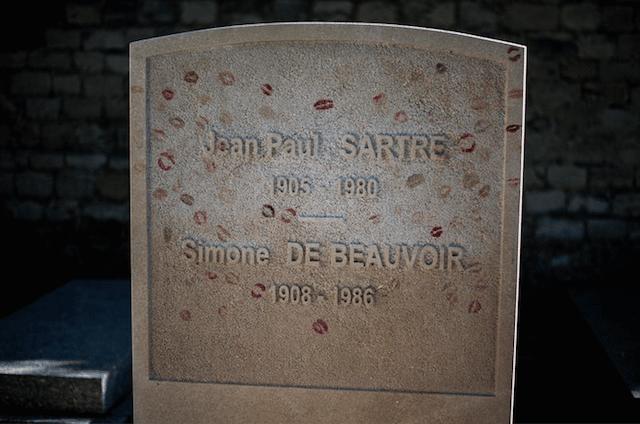 Sartre Beauvour cimetière du Montparnasse christophe noel