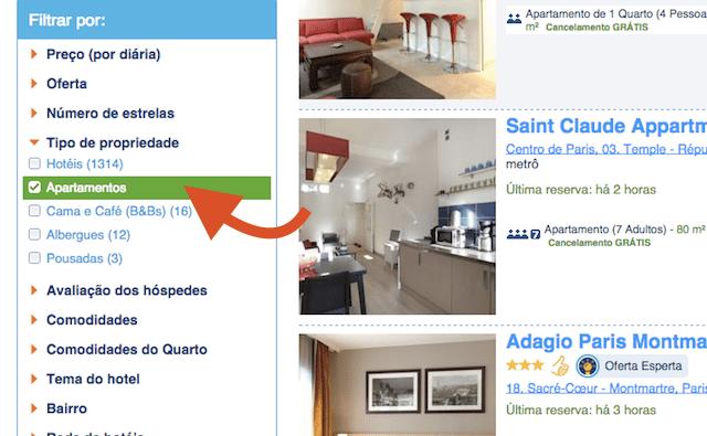 alugar apartamento booking