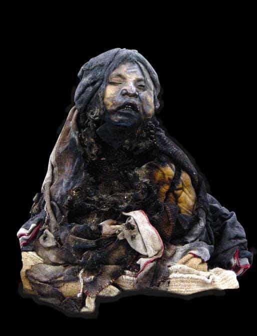 menina do raio - múmia criança inca