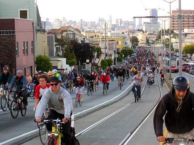 Ciclistas em São Francisco