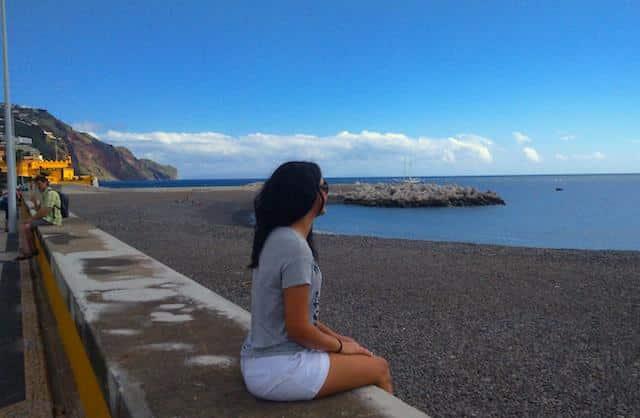 Luiza na Baia de Funchal