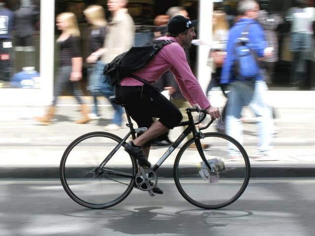 ciclista em nyc