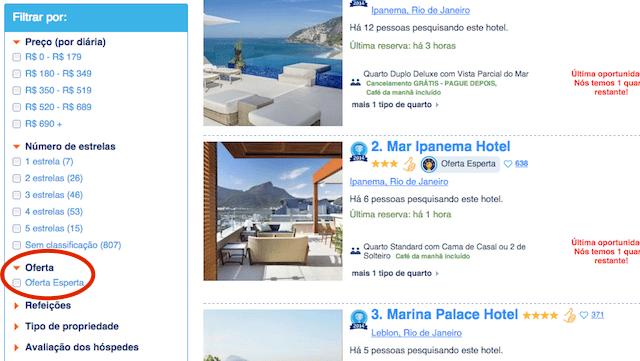 Booking.com Ofertas espertas