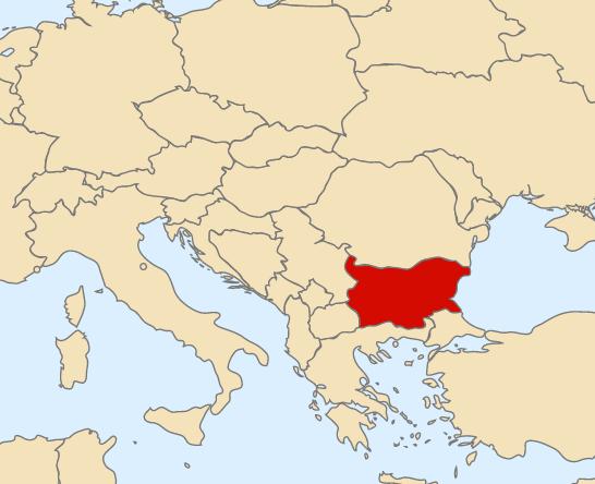 Mapa Bulgária