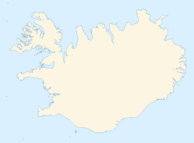 Mapa da Islândia