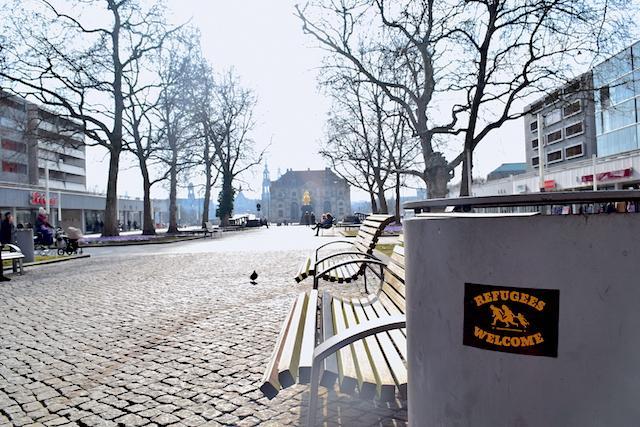 Neustadt em Dresden refugees