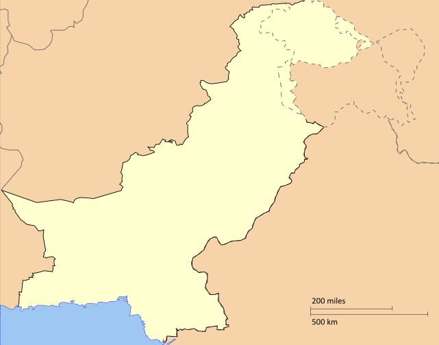 Paquistão mapa