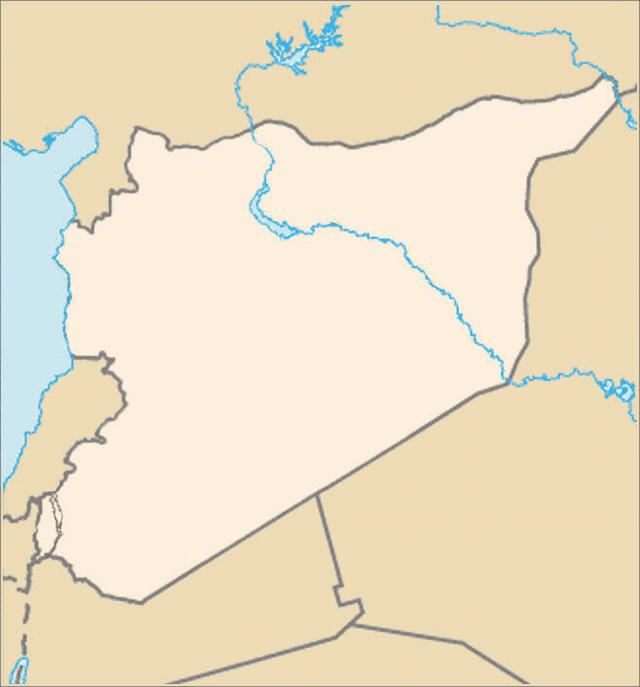 Siria - mapa